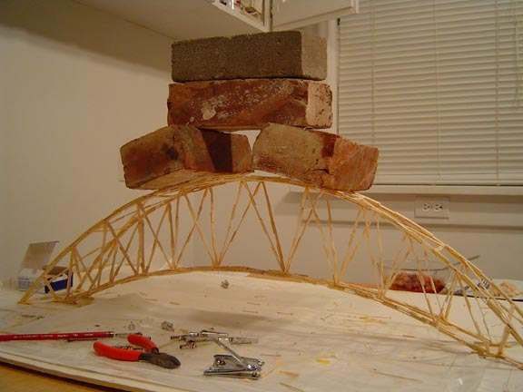 bridge made out of toothpicks